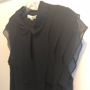 3.1 Phillip Lim Silk Dress with Ruffled Collar